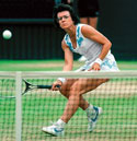 Billie Jean King playing
